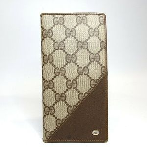 Auth Gucci Old Gucci Pvc/Leather Wallet #477G1064